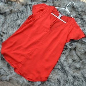 H&M Flowy Red Blouse
